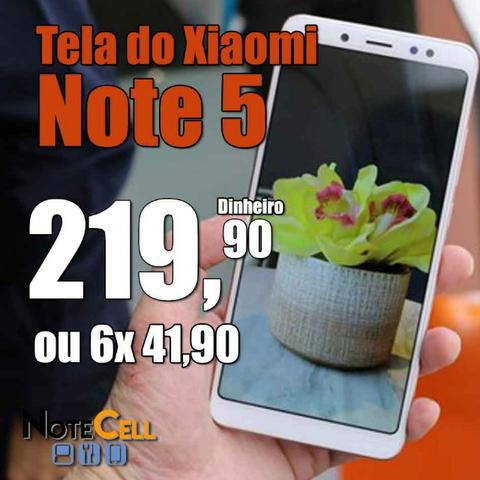 Tela do Xiaomi Redmi Note 5