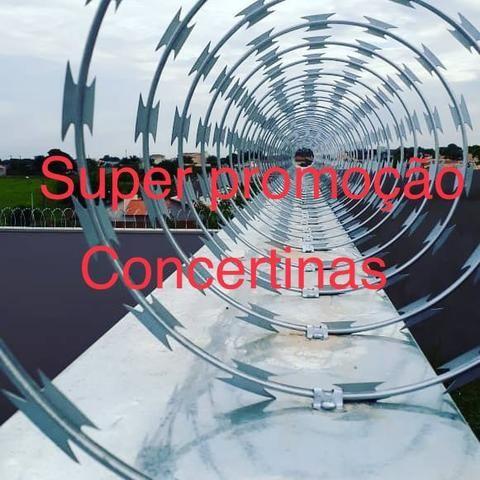 Concertinas e cercas elétricas