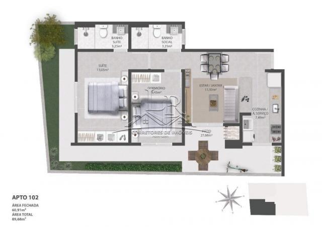 Apartamento à venda com 2 dormitórios em Ingleses do rio vermelho, Florianópolis cod:1647 - Foto 5
