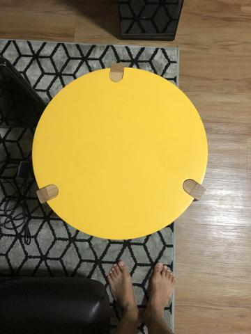 Mesa lateral Amarela - Foto 3