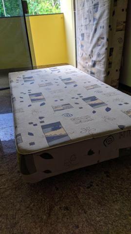 Cama BOX Com Colchão Solteiro - Molas Bonnel - Foto 4