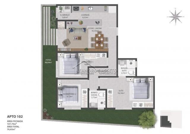 Apartamento à venda com 3 dormitórios em Ingleses, Florianópolis cod:1789 - Foto 3