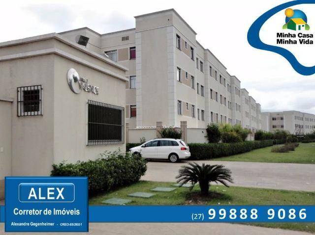 ALX - 68 - Apartamento com Subsídio de até R$ 23.200,00 e F.G.T.S como Entrada ? 2 Quartos