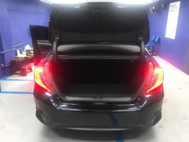 Honda Civil EXL, 2017, preto Batmóvel. Único Dono. Maravilhoso - Foto 4