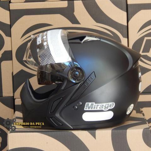 Capacete Peels Mirage New Classic Preto Fosco Original Motociclista Moto 2f0c4ca11b5