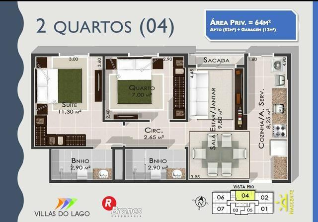 Apartamento para estudante e solteiros. Entrega Cozinha com modulados - Foto 6