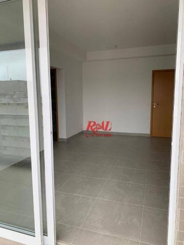 Apartamento com 2 dormitórios (1 suíte) à venda e locação, 72 m² - Gonzaga - Santos/SP - Foto 2