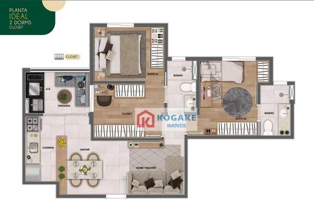 Apartamento com 2 dormitórios à venda, 65 m² por R$ 331.980 - Parque Industrial - São José - Foto 5