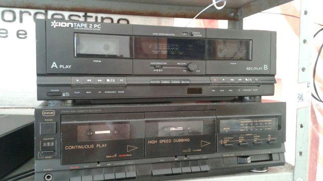 Vendo tape deck duplo funcionando