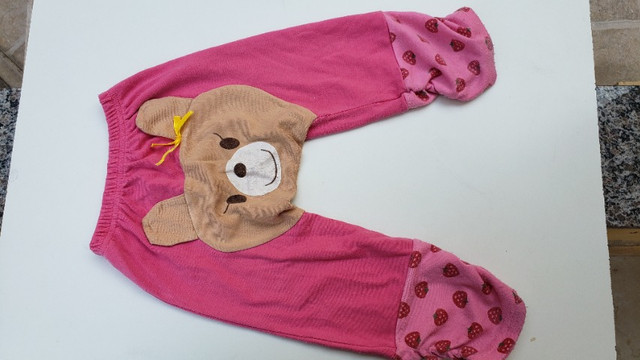 Calça infantil moletom ursinho tamanho 2