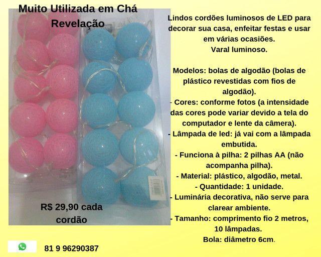 Cordões Luminosos de Led R$ 30,00
