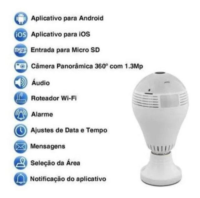 Lâmpada LED Câmera WIFI 360º - Foto 3