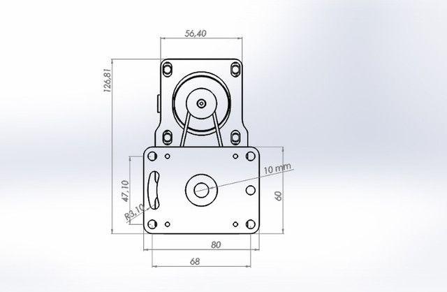 Motor De Passo Com Redução 1:3 Cnc Plasma,laser,router - Foto 4