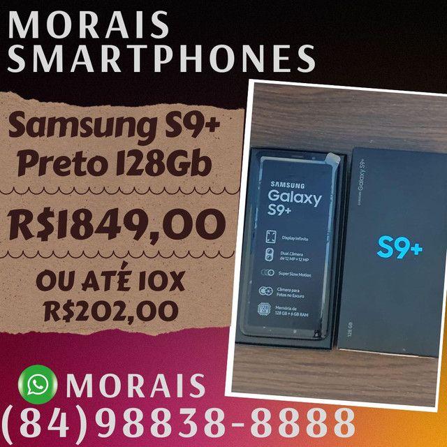 Samsung S9 Plus 128Gb Black Piano (SEMI-NOVO IMPECÁVEL)  - ( 8 4 ) 9 8 8 3 8 - 8 8 8 8