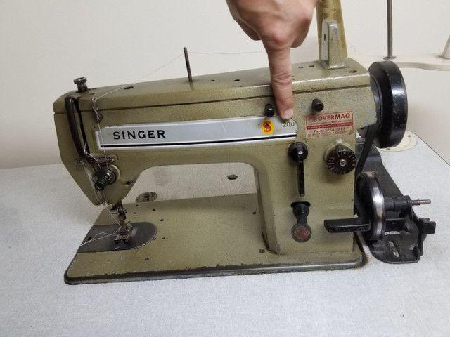 Máquina Singer 20U Reta e ZIG ZAG - Foto 5