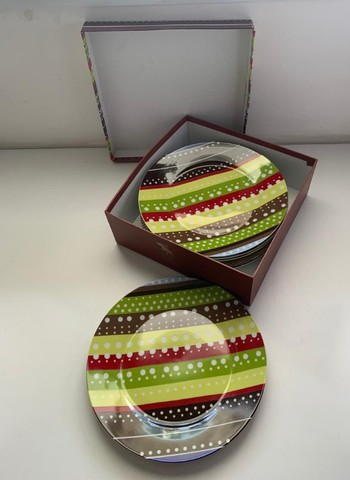 Conjunto De 6 Pratos De Sobremesa Porcelana Presentti Style - Foto 3