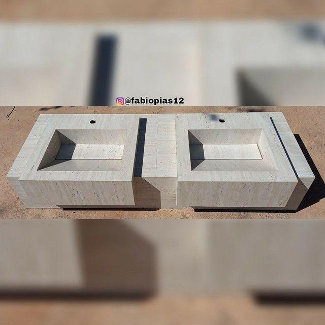 Pias esculpida em Porcelanato  - Foto 3