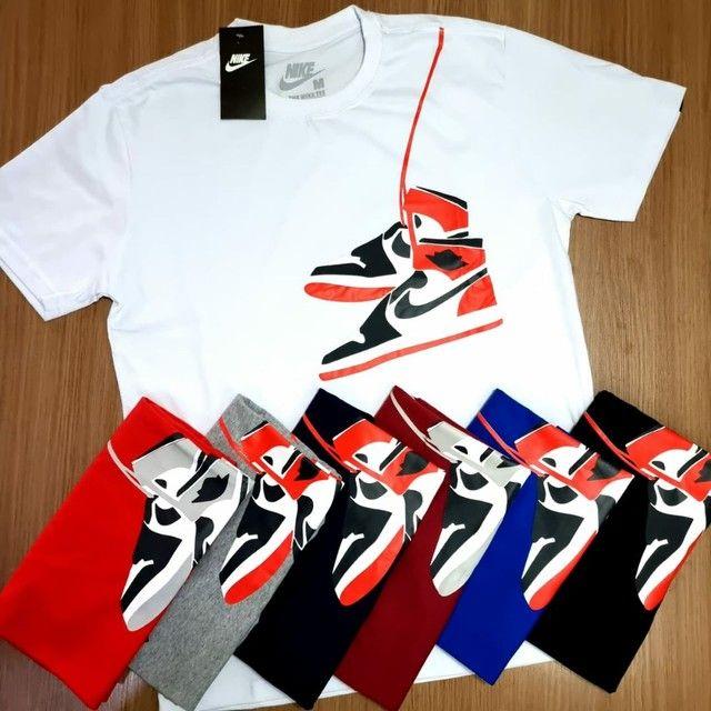 Camisas Masculinas 100% Algodão fio 30.1  - Foto 3