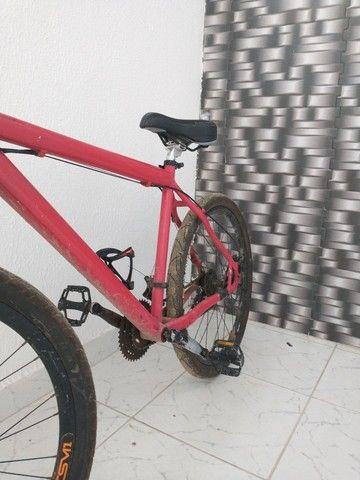 Bike dhr rapaziada, com nota fiscal, troco em pratas também - Foto 4