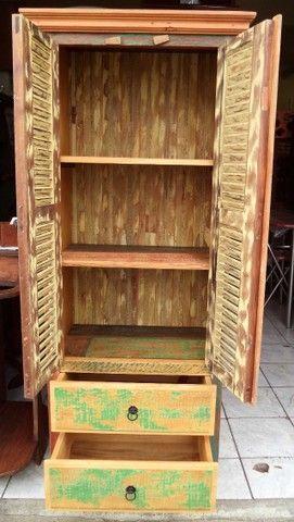 sapateira rustica em madeira de demoliçao - Foto 2