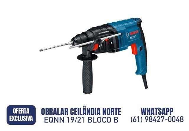 R$ 799,90  Martelete Rompedor 650w 1.7 J 220v Gbh 2-20d Bosch