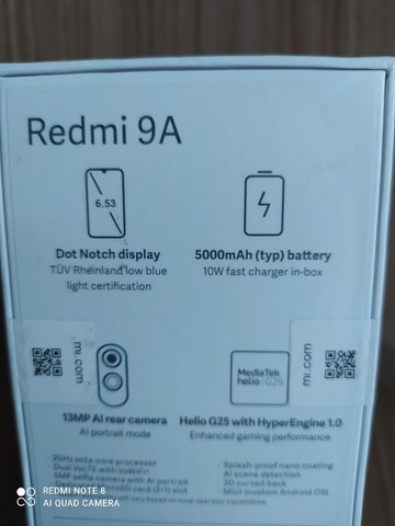 Xiaomi redmi 9A 32 gigas