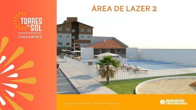 com apartamento de 44m², condomínio torres do sol, 2 quartos - Foto 6
