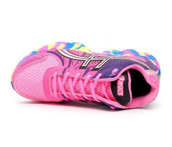 tenis asics rosa e roxo