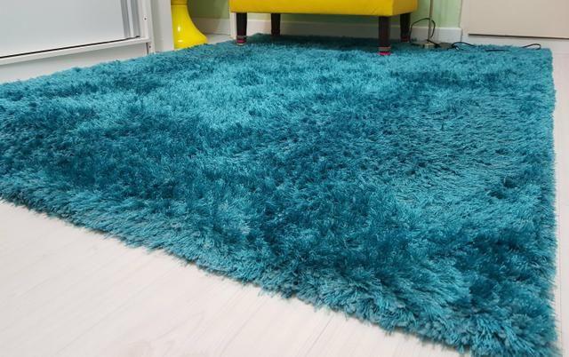Tapete shaggy turquesa pelo alto peludo - Objetos de decoração ... 9b982214a194