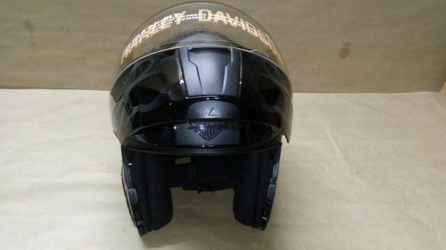 Capacete escamoteável, original Harley Davidson com Dot - Foto 8