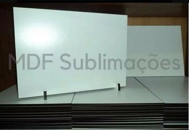 50 Placas de MDF Resinado A4 P/Sublimação