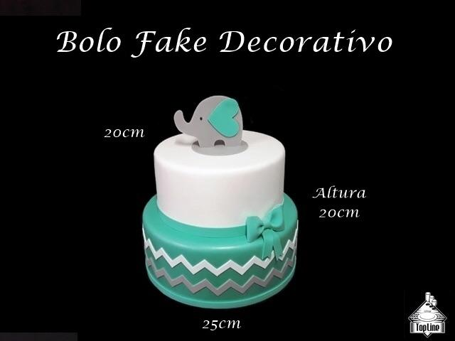 Vendo lindo bolo falso, tema: elefantinho