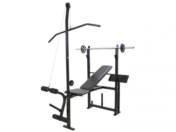 Estação/Aparelho de Musculação Polimet - Master Gym IV até 120kg 1 Barra e 4kg de Anilhas