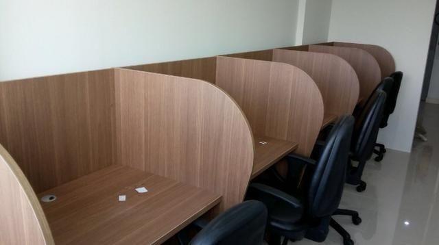 5 Baias lindas de madeira para telemarketing ou Lan House !!