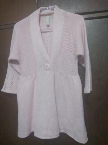 Casaco de lã rosa