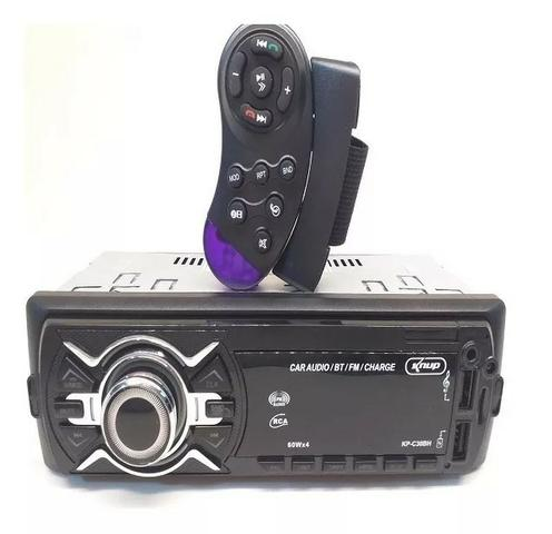 Auto Radio Automotivo Bluetooth Som Carro Mp3 Player Usb Sd