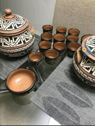 Jogo de Cerâmica para Feijoada Marajoara