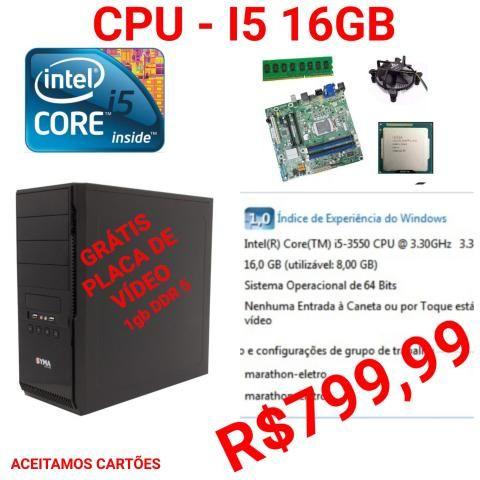 Cpu i5 16gb memoria