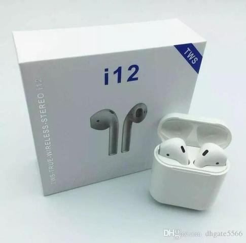 Fone de Ouvido EarPods I12 Bluetooth Android celular