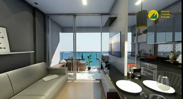 Studio com varanda gourmet e vista pro mar - Foto 3