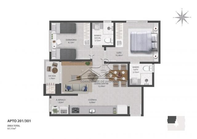 Apartamento à venda com 3 dormitórios em Ingleses do rio vermelho, Florianópolis cod:1685 - Foto 5