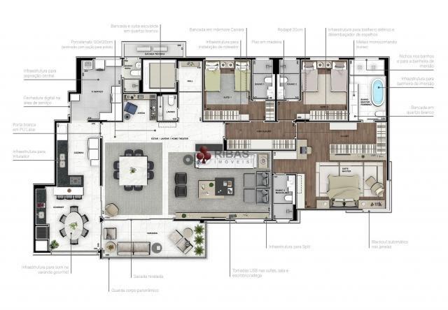Apartamento à venda com 5 dormitórios em Batel, Curitiba cod:15373 - Foto 13