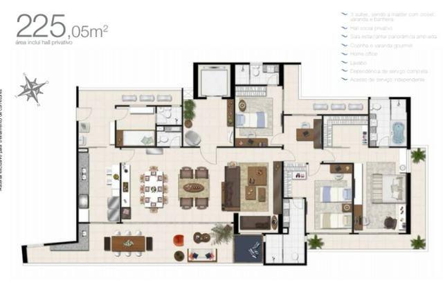 (JAM)TR36934 Apartamento a venda no Meireles oportunidade com 225 m² 4 Suites 5 vagas