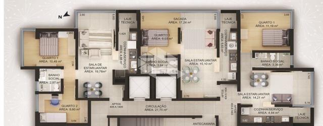 Apartamento à venda com 2 dormitórios em Cidade alta, Bento gonçalves cod:9913662 - Foto 2
