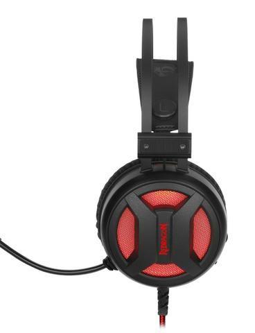 Headset Gamer Redragon Minos H210 Usb Preto C/ Vermelho