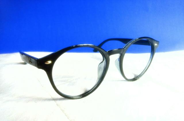 Armação p  Óculos de Grau - Ray-ban Preta Brilhosa - Modelo Round ... f3b320a87c