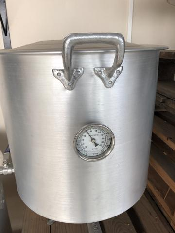 Caldeirão cervejeiro 65 litros com registro e termômetro