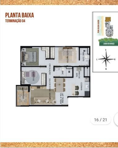 NV - Unique Hall Lagoa do Araçá 3 qts, 71m²- 81. * Whatsapp - Foto 12
