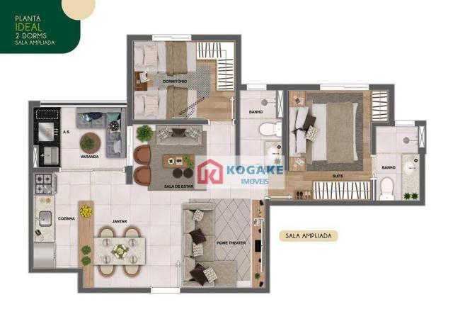 Apartamento com 2 dormitórios à venda, 65 m² por R$ 331.980 - Parque Industrial - São José - Foto 6