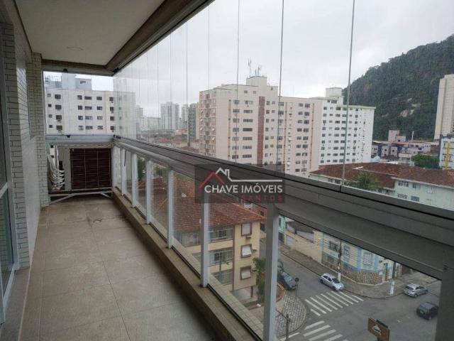Apartamento com 3 dormitórios à venda, 111 m² por R$ 740.000,00 - Marapé - Santos/SP - Foto 2